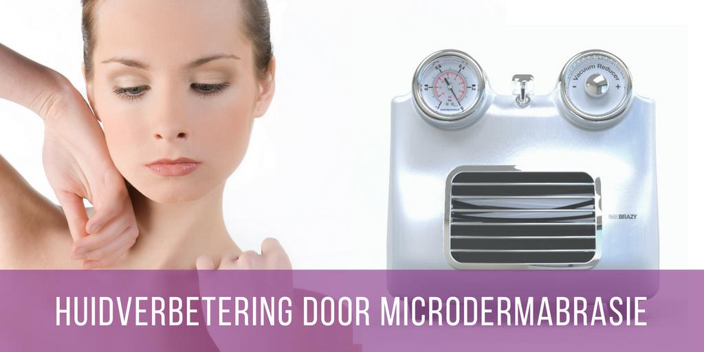 Huidverbetering door microdermabrasie